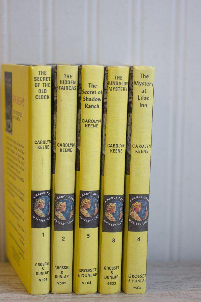 Vintage Nancy Drew Mystery Book Set 1-5 - Nice Gift Set