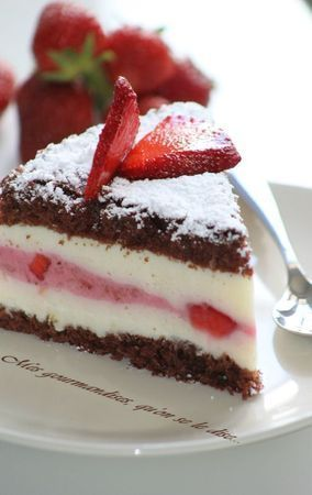 Gâteau fraise fromage blanc