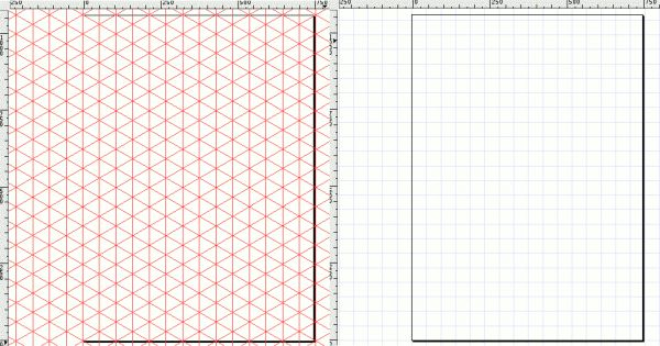 axonometric grid tutorial for use with inkscape (free vector program); need X Quarts as well for use in latest Mac OS