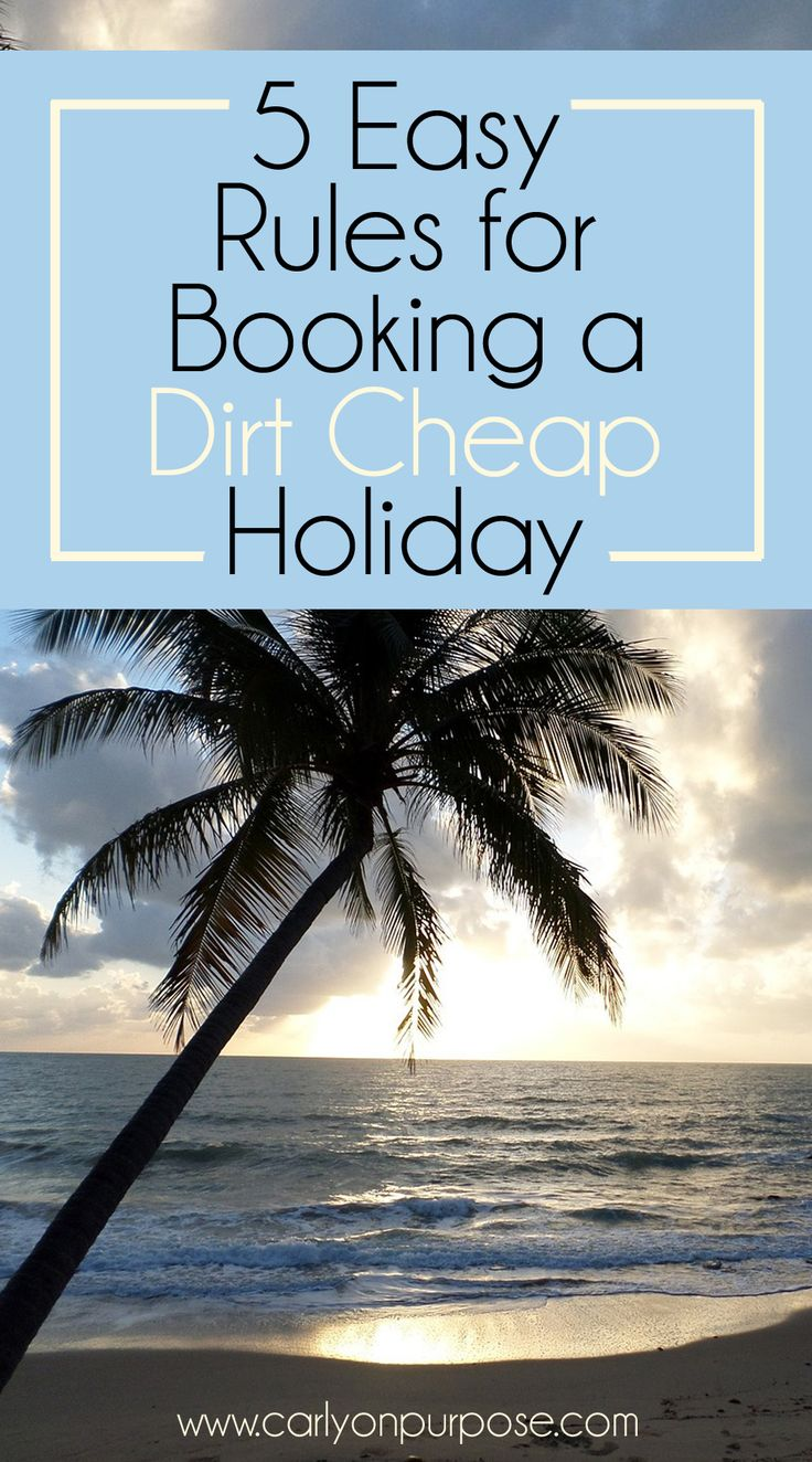 These 5 tips for booking a cheap vacation are AWESOME, and these things are so easy to do!