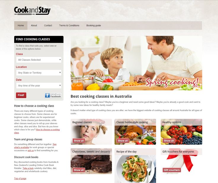 Cook and Stay | from Elfshot Web Design Folio