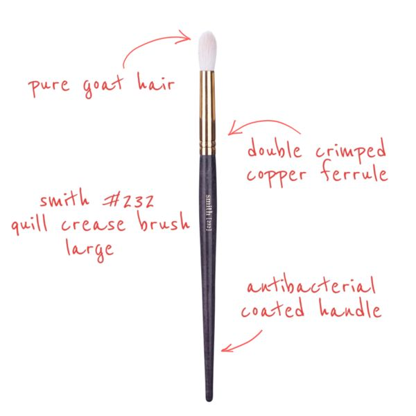 #232 Quill Crease Brush Large                                                                               Designed to apply and blend eyeshadow into the creas
