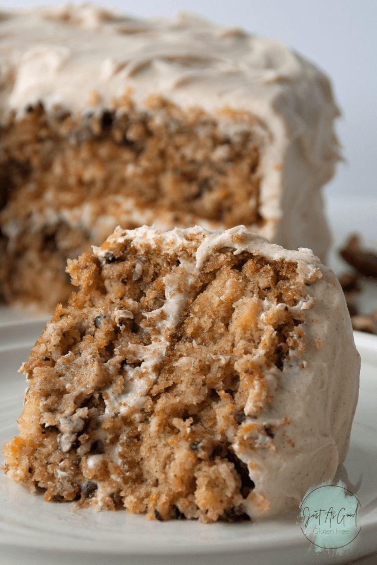 Gluten free carrot cake with cinnamon cream cheese