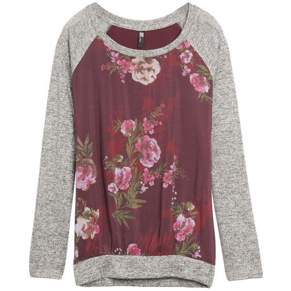 Love the raglan style and pretty floral pattern. Kut from the Kloth - Benter Mixed Material Top
