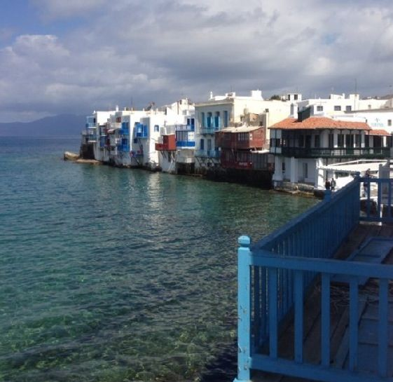 The view around Little Venice, Mykonos