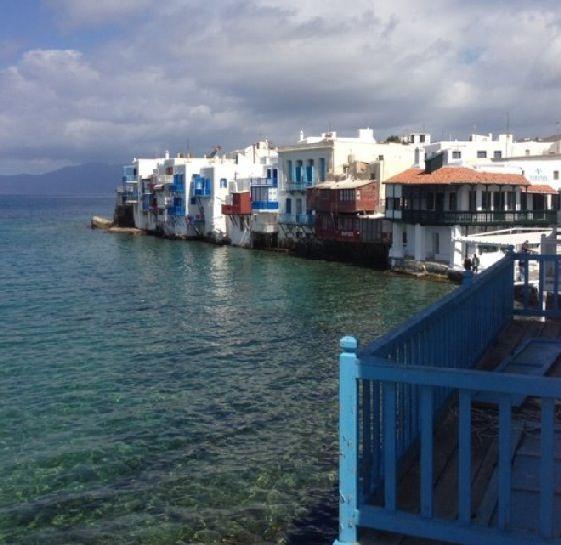 The view around Little Venice, Mykonos