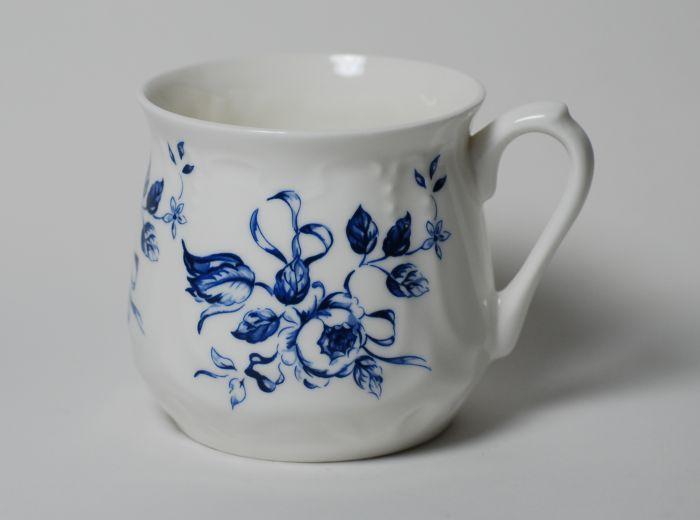 Kubek śląski niebieski wzór (duży) - Porcelana Ćmielów