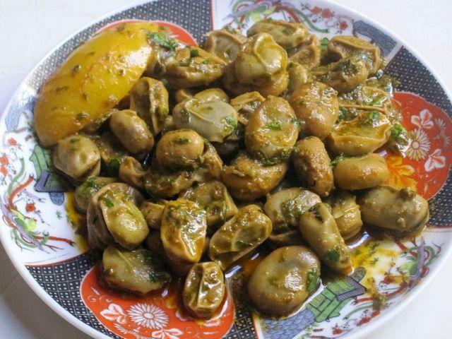 Moroccan Fava Bean Salad with Chermoula Marinade