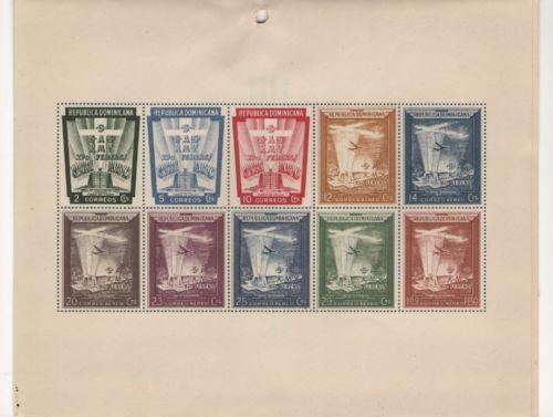 REPUBBLICA-Dominicana-1953-SGMS-617-Superbo-Gomma-integra-non-linguellato-minisheet-presentazione