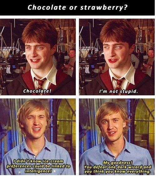 """And clearly, some of Malfoy's feelings about Harry crept into Tom's life. 