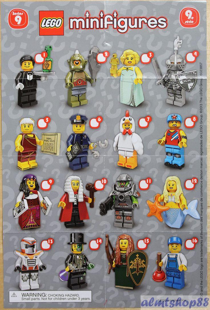 LEGO Mini Poster Leaflet Minifigures Series 1 2 3 4 5 6 7 ...