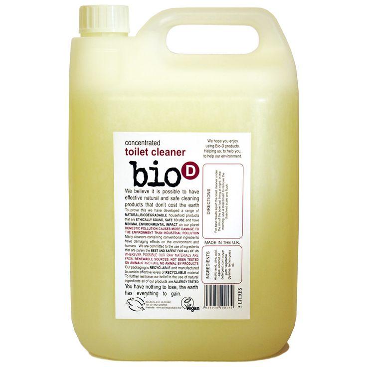 Ένα συμπυκνωμένο και εύχρηστο Καθαριστικό Τουαλέτας που αφαιρεί λεκέδες και άλατα από όλες τις λεκάνες. Σε οικονομική συσκευασία των 5 λίτρων. Δεν έχει καμία επίδραση στην ασφαλή λειτουργία των βόθρων. Τα μπουκάλια κατασκευάζονται με ανακυκλώσιμα πλαστικά HDPE που μπορούν να επαναχρησιμοποιηθούν.