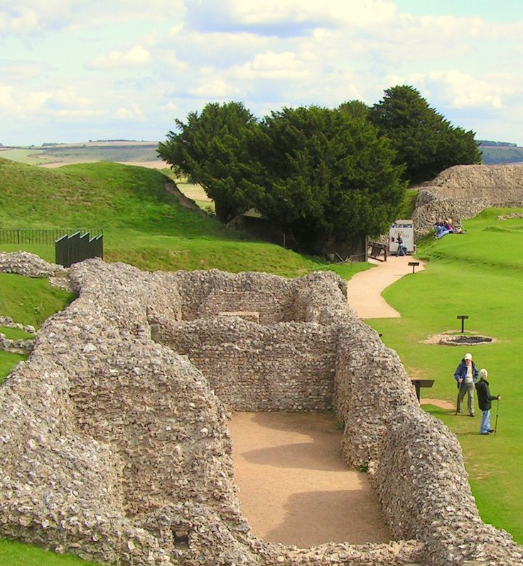 Old Sarum near Salisbury, Wiltshire, UK.  Travels featured in the Campervan Capers books/blog by Alannah Foley.