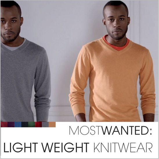 Light-weight knitwear. Winter's easiest dressing solution.