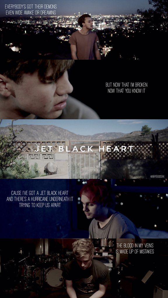jet black heart lockscreen -