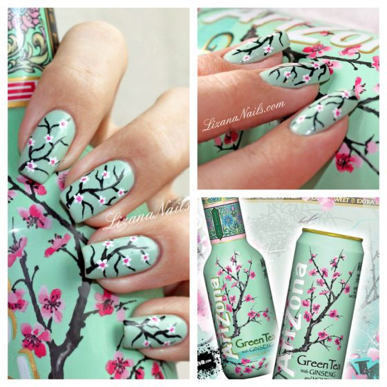 Nail Art cerisier Arizona