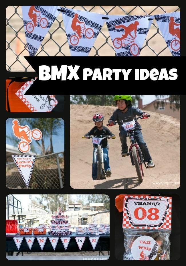 BMX Bike Birthday Party Ideas | Spaceships and Laser Beams