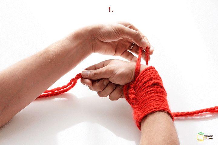 tricoter un foulard a la broche