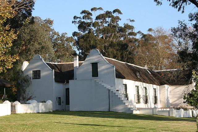 Side view of gables, Cape Dutch