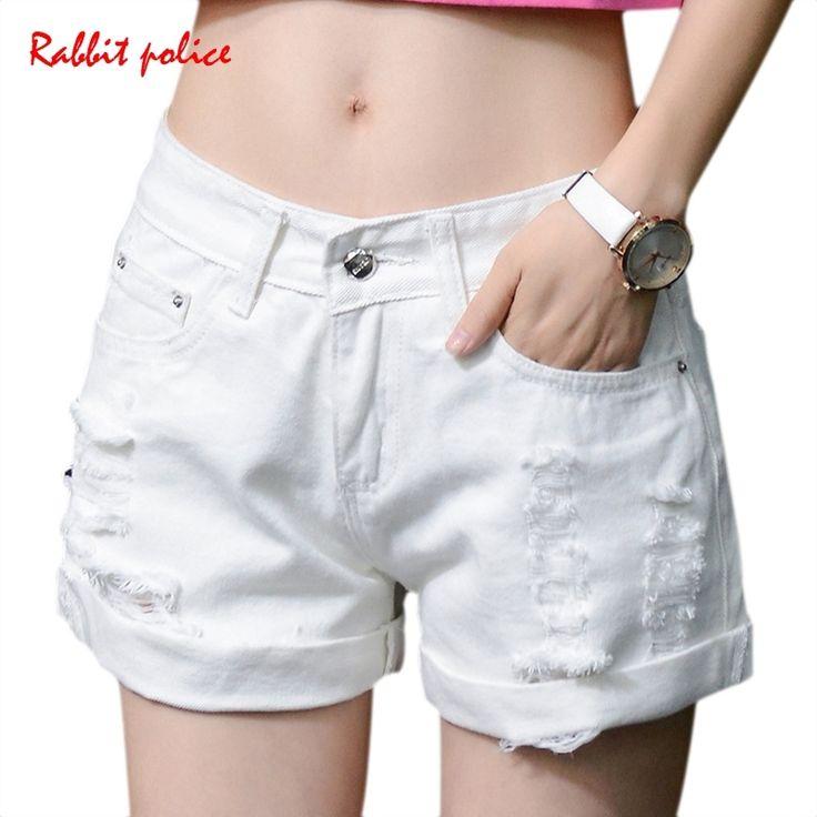 7.14$  Watch here - http://alibkt.shopchina.info/go.php?t=32799369747 - R&P 2017 New White Celana Pendek Wanita Casual Fashion Short Jeans Cintura Alta Tassel Denim High Waisted Black Shorts 7.14$ #buychinaproducts