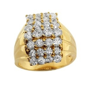 5.00 Ct Silver 14K Gold Plated Round Cubic Zirconia CZ Ring Size 8 Or 9