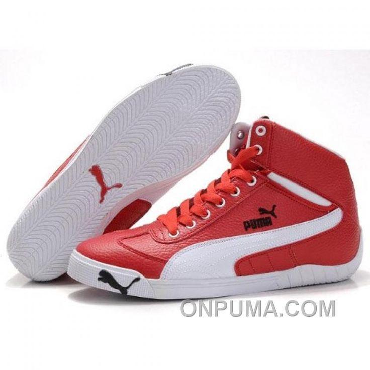http://www.onpuma.com/puma-schumacher-racing-high-tops-shoes-red-white-discount.html PUMA SCHUMACHER RACING HIGH TOPS SHOES RED WHITE ONLINE : $88.00