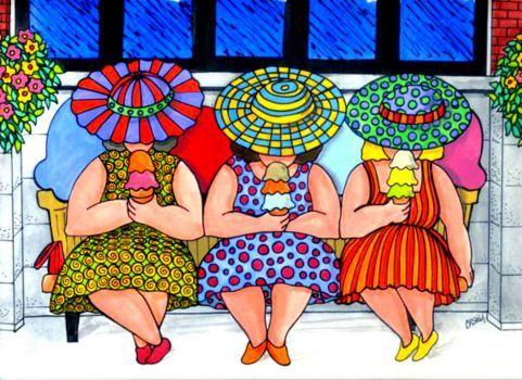 The Girls Having Ice Cream - Carolyn Stich