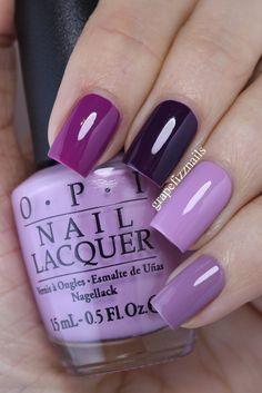 grape fizz nails: Purple Skittle Mani