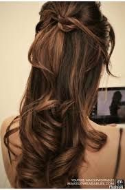 Image result for prom hairstyles down curly half up half down