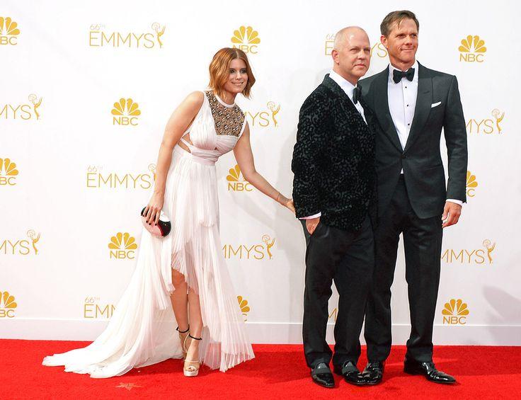 Kate Mara, Ryan Murphy & David Miller- 2014 Emmy Arrivals