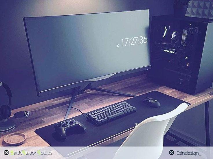 Square Bedroom Room Gaming Setup