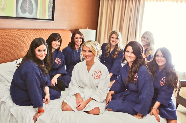 Personalized Robes for Bridesmaids #wedding #bridesmaids