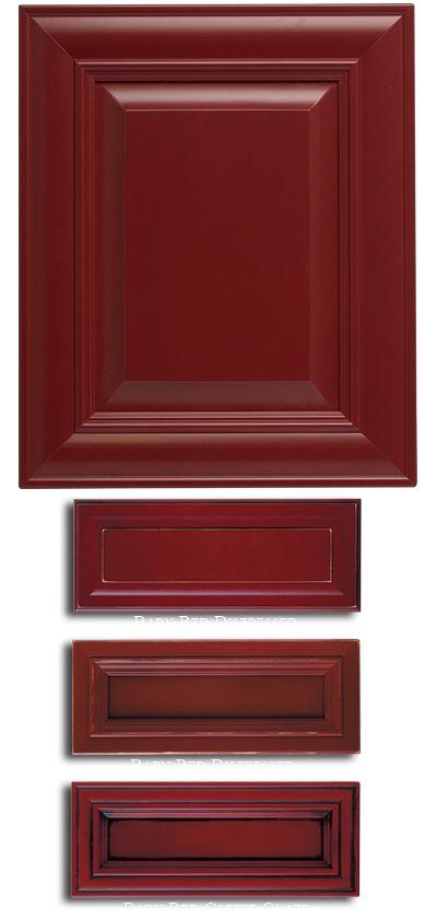 Best 20 red kitchen cabinets ideas on pinterest red Red kitchen cabinets
