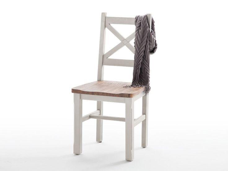 Białe krzesło drewniane Alice