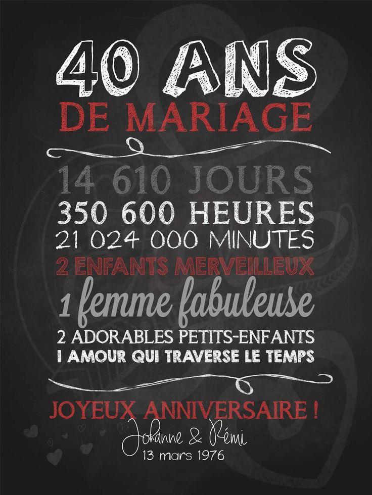 Vous désirez souligner de façon original l'anniversaire de mariage (ou d'amour) de vos parents ou le vôtre? Ce modèle est parfait!