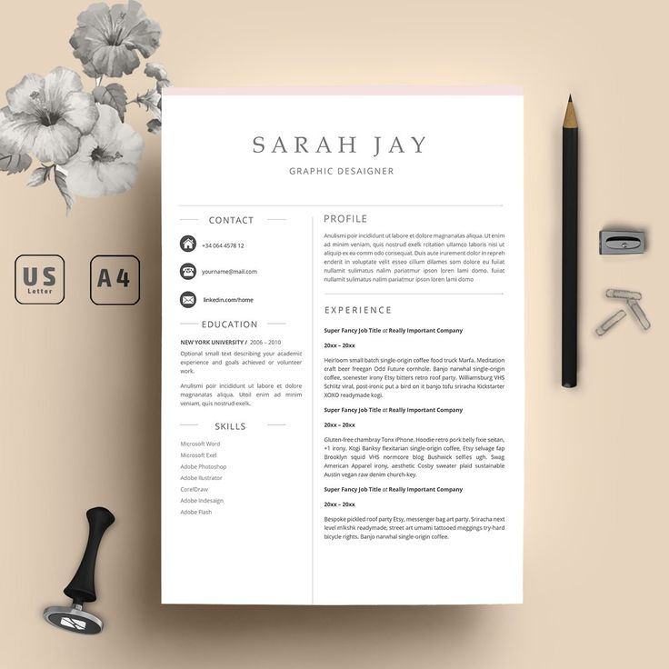 Professional Resume Template 3 Pages - Resumes