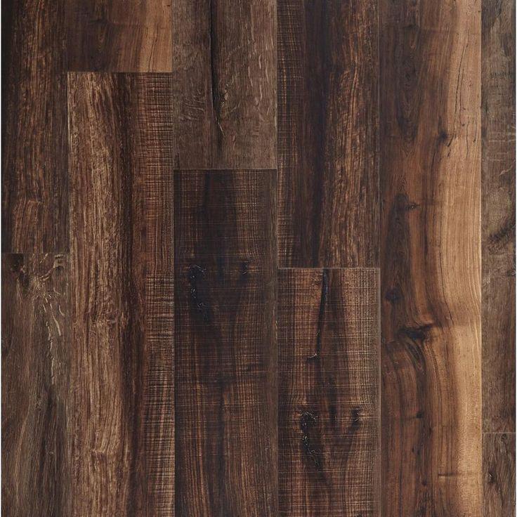 Nucore Mixed Mocha Hand Scraped Plank With Cork Back 6