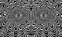 gif art trippy Black and White eyes creepy drugs lsd eye shrooms acid psychedelic surreal Abstract bad trip mashrooms