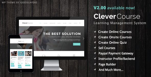 Clever Course is a LMS (Learning Management System) wordpress theme. It's suitable for school, university, college, education etc..