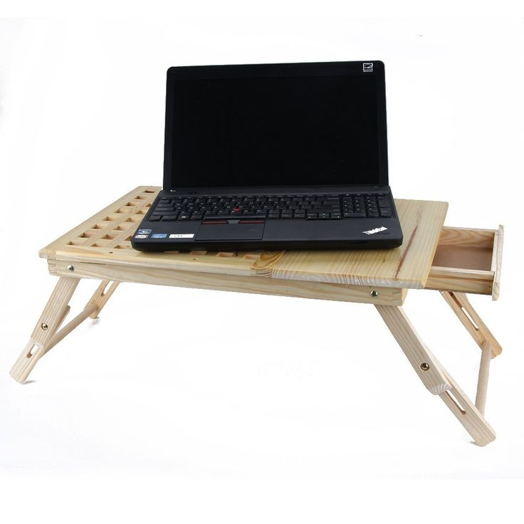 Amazon.com : Foldable Wooden Portable Laptop Table Bed ...