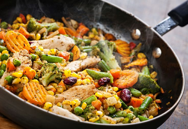 """What's cookin'? Check out this spring-time """"Eating Well"""" recipe for Wok-Seared Chicken Tenders with Asparagus & Pistachios."""