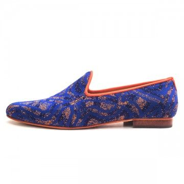 Arabesco Caballero slipper, handmade in Columbia. #print #pattern