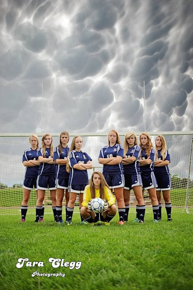 One of our senior soccer pictures! Tara Clegg did an awesome job making us look intimidating :)