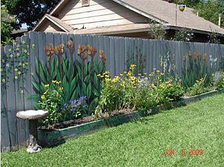 backyard fence as the canvas backyard fences fence garden fence art