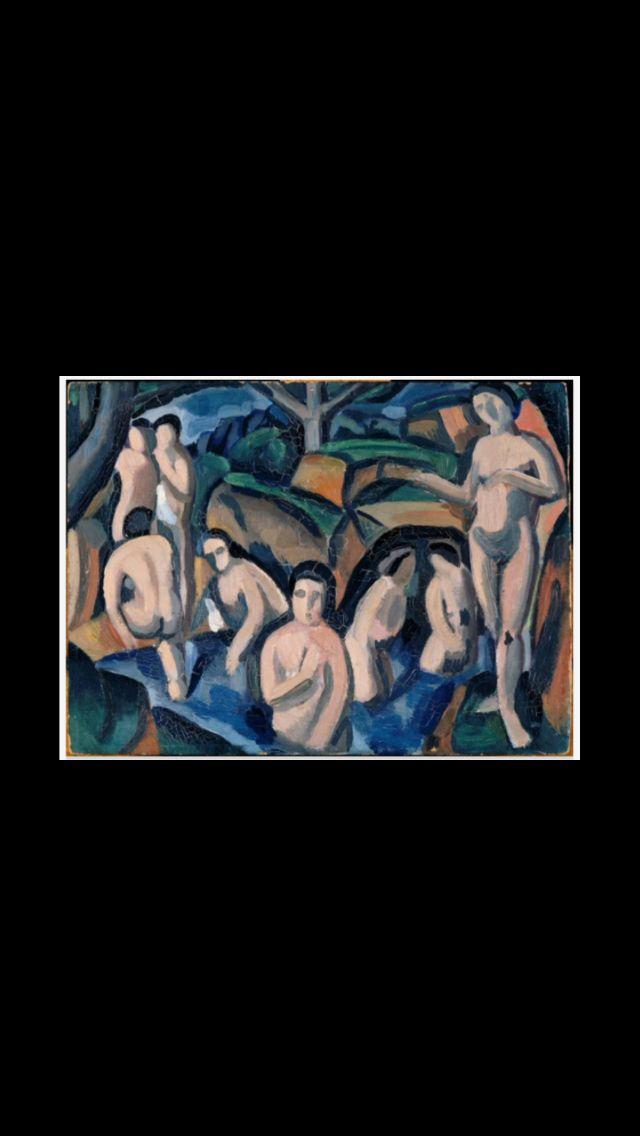 """André Derain - """" Baigneuses """", 1908 - Huile sur carton - 24 x 32,5 cm -- Collection personnelle de Picasso -- Musée Picasso, Paris"""