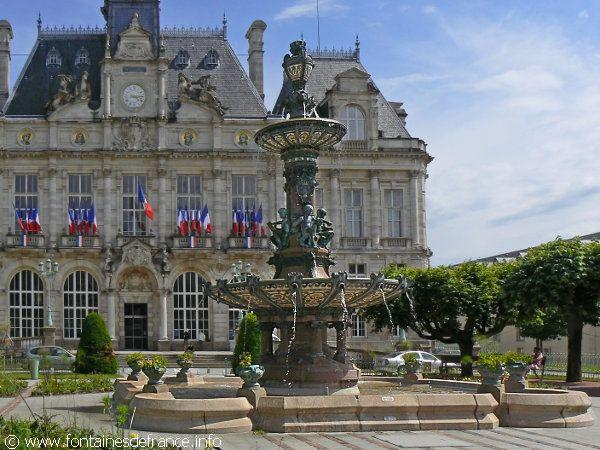 Limoges limousin la fontaine de l 39 h tel de ville http for Piscine limoges