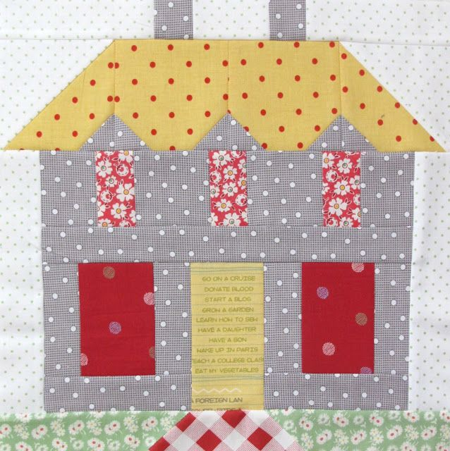 Bee In My Bonnet  My Home Sweet Home Quilt Block Pattern   In Quiltmakers  Magazine. 92 best House block patterns images on Pinterest   House quilts