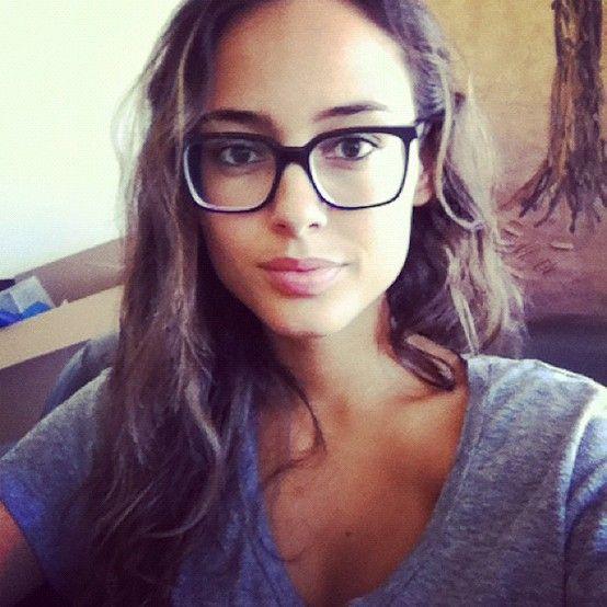 Girl Long Brown Hair Glasses,love her glasses