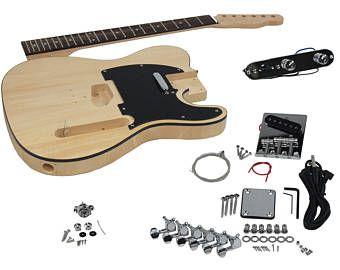 SOLO Tele estilo guitarra DIY Kit, cuerpo de Basswood
