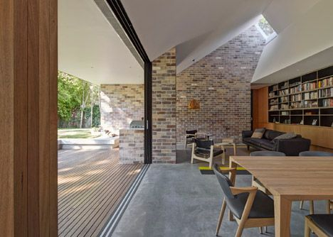 High level rooflight at the Skylight House by Andrew Burges Architects